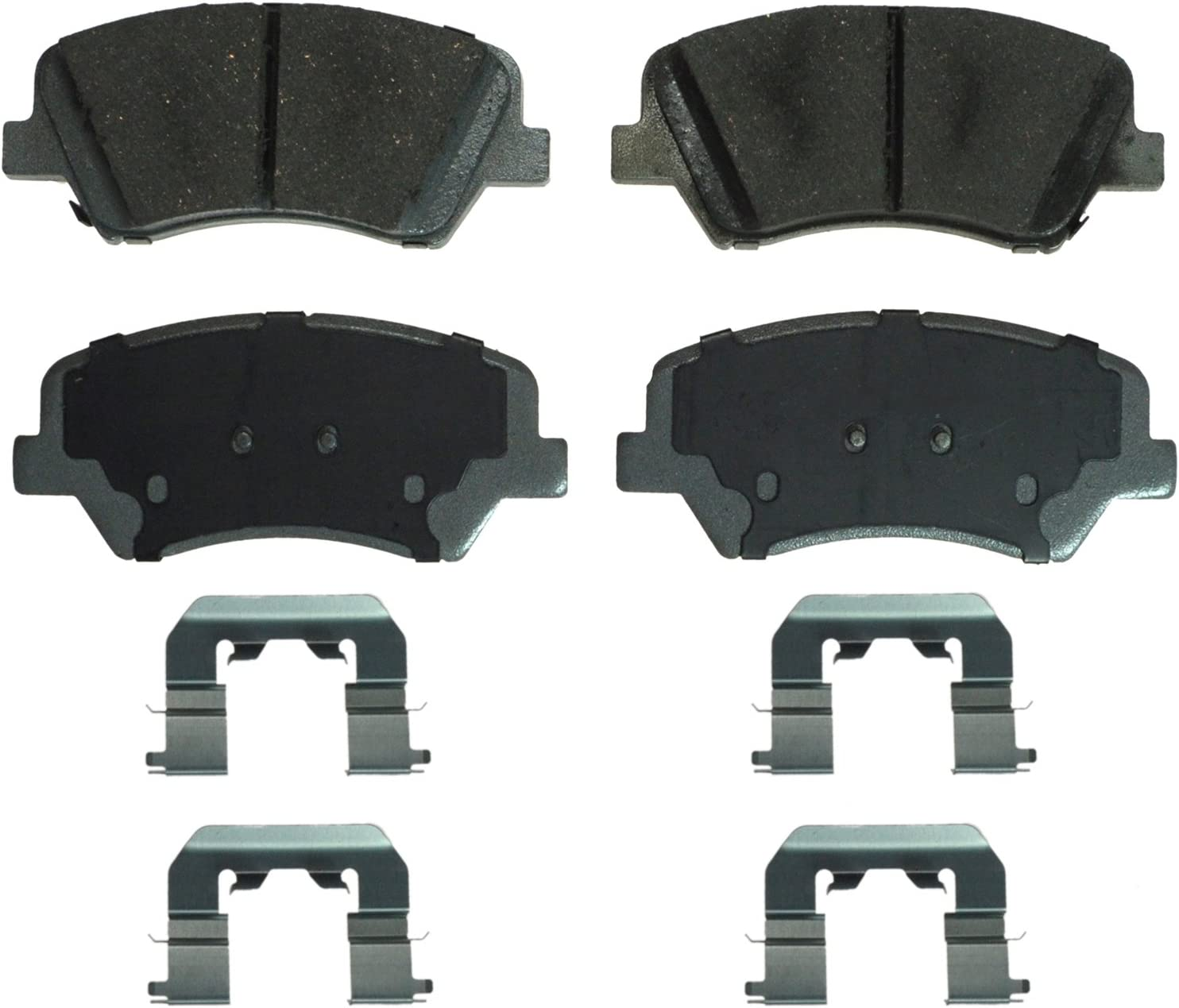 Wagner QuickStop ZD1544 Ceramic Disc Pad Set Includes Pad Installation Hardware Rear Wagner Brake