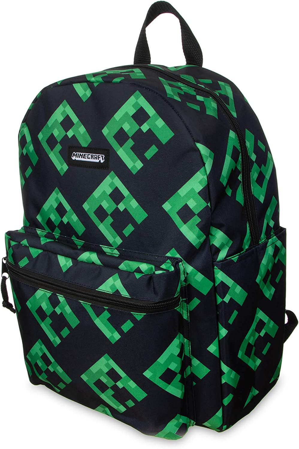 Minecraft Backpack 16 Book Bag for Kids Creepers All Over Print