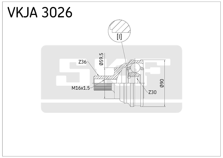 SKF VKJA 3026 Kit giunti omocinetici