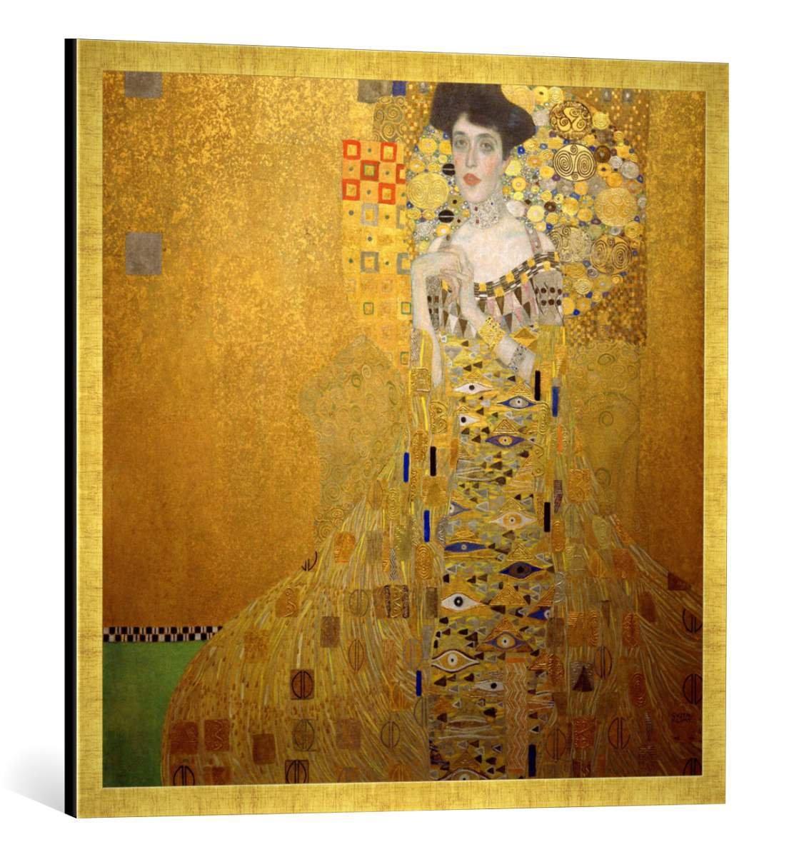 Amazon.de: Gerahmtes Bild von Gustav Klimt Bildnis Adele Bloch-Bauer ...