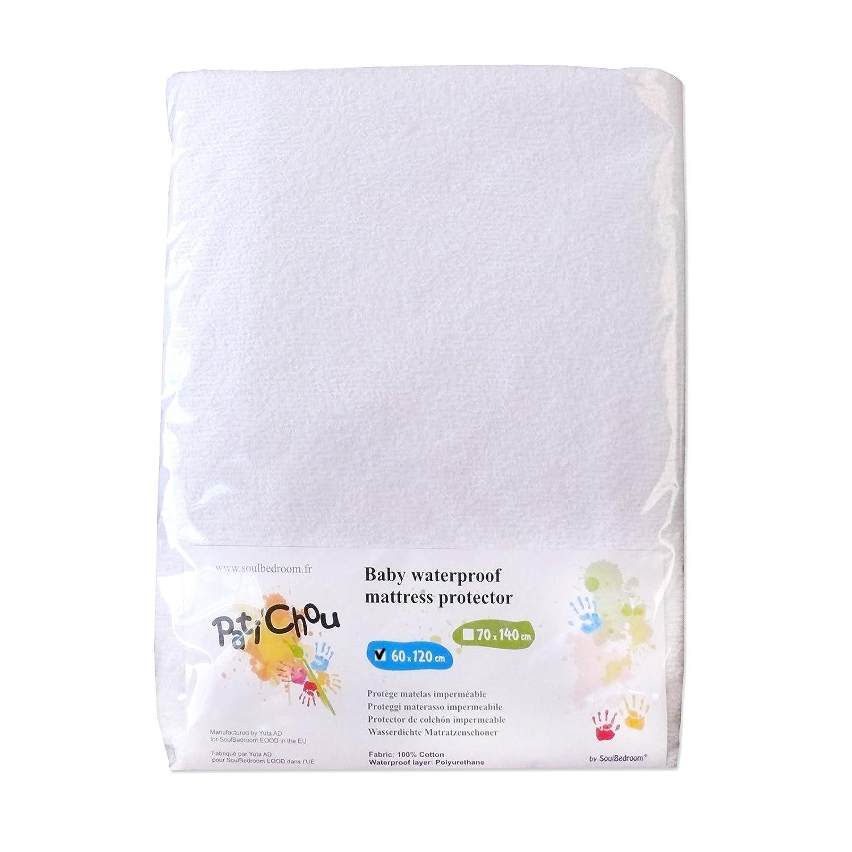 Pati'Chou Protector de colchón algodón impermeable para cuna 120 x 60 cm SoulBedroom