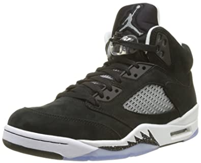 best service 49207 93e67 NIKE Mens Air Jordan 5 Retro Oreo Suede Basketball-Shoes