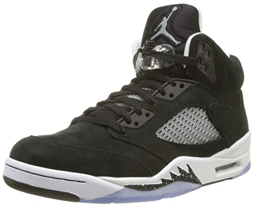 best service d4b23 65745 NIKE Mens Air Jordan 5 Retro Oreo Suede Basketball-Shoes