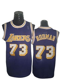 Lakers 73 Rodman morado nueva revolución 30 camisetas size-l: Amazon.es: Deportes y aire libre