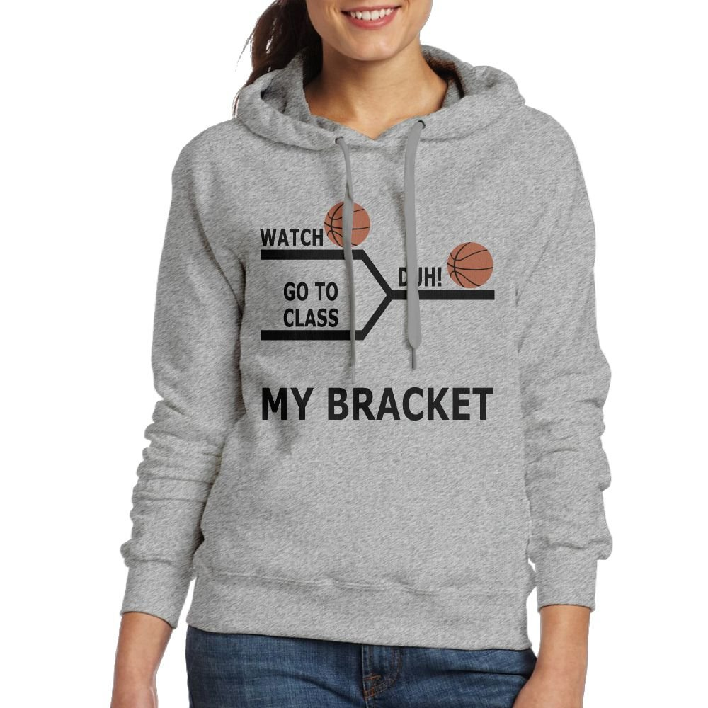 Wxf Womens March Madness Basketball Funny Bracket Casual Style Jogging Ash Hoodies