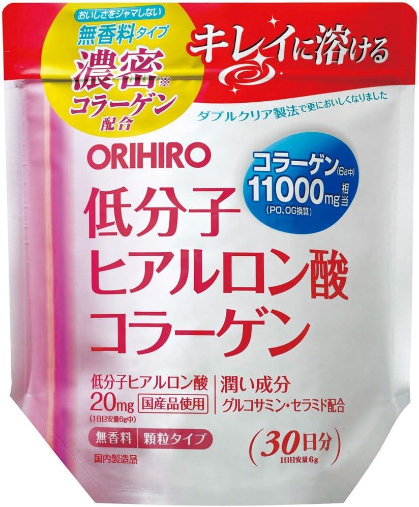 オリヒロ 低分子ヒアルロン酸 コラーゲン袋タイプ