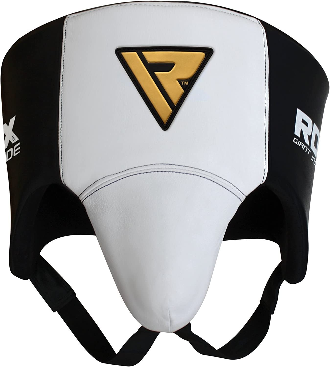 Martial Arts Taekwondo RDX Groin Guard for Boxing Cow Hide Leather Abdo Gear for Muay Thai Karate Abdominal Protector for Men Jock Strap for Kickboxing MMA Training BJJ Sparring /& Fighting
