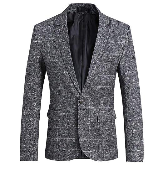 dec9146c591 Men's Suit Jacket Checked Slim Fit Blazer Blazer 1 Smoking Retro Wedding  Button Party Tuxedo Cocktail