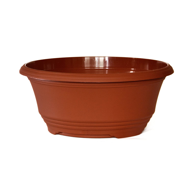 27cm Terracotta colour Teku Bulb Bowls (10) Poppelmann