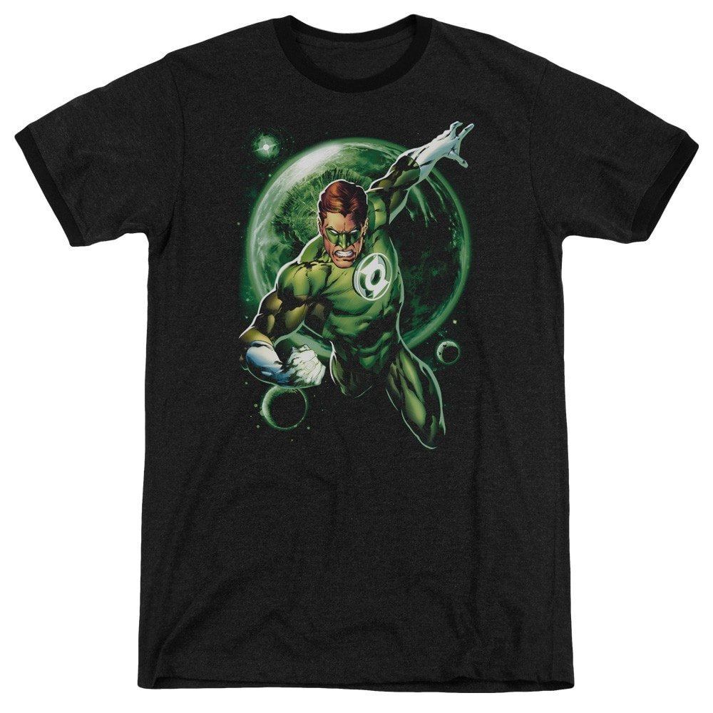 Galaxy Glow Adult Ringer T Sons of Gotham Green Lantern Shirt M