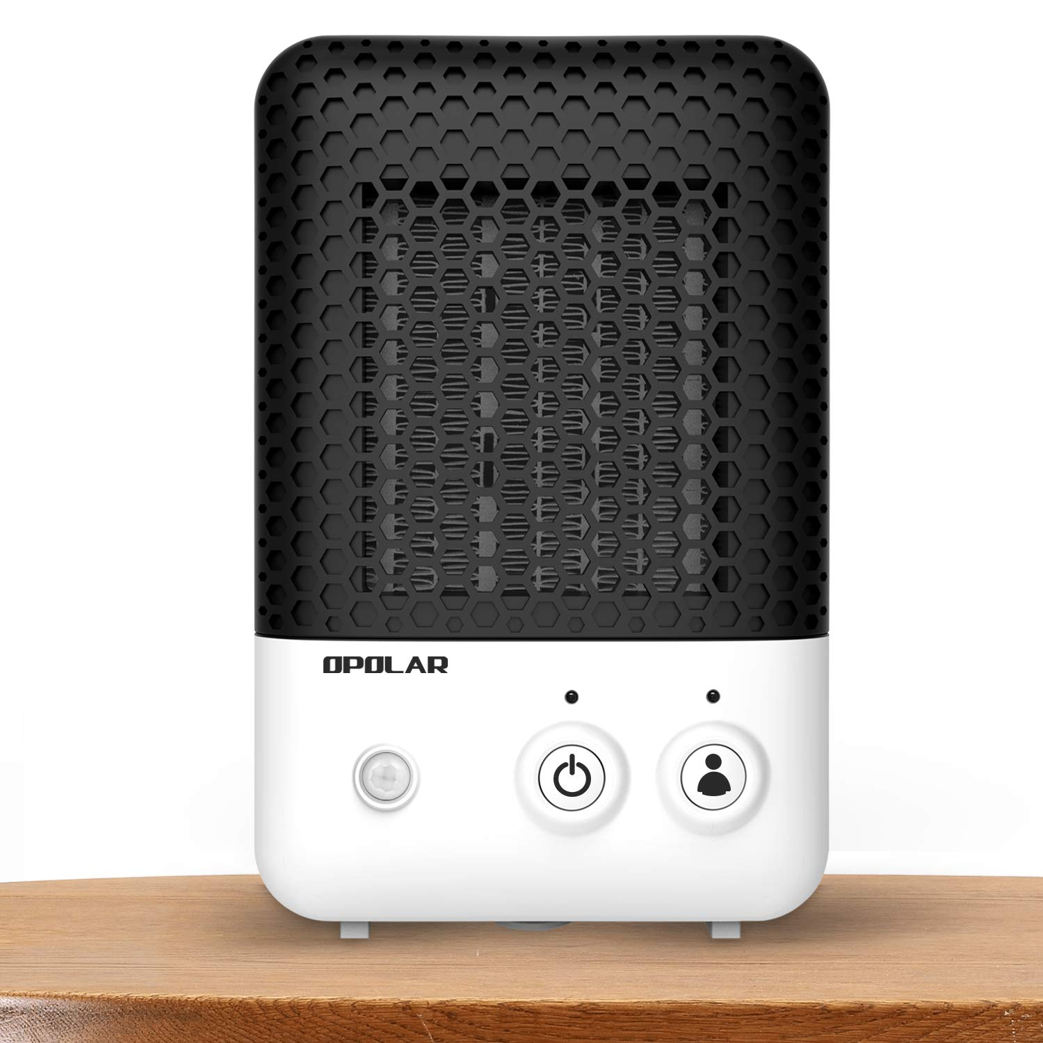 CDM product OPOLAR Mini Ceramic Heater with Infrared Human Sensor Feature, 600 W Heating for Small Room, Office,Desk,Personal or Other Cubic Space,Powerful and Portable, Stylish and Silent, ETL Approved big image