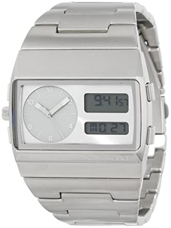 015c34d9d Vestal Men's MMC039 Metal Monte Carlo Silver Analog and Digital Watch:  Amazon.co.uk: Watches