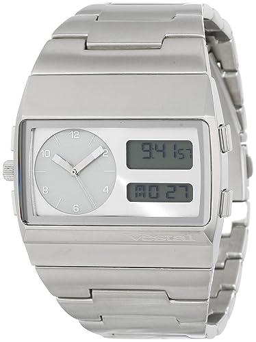 Vestal Unisex MMC033 Metal Monte Carlo Plata Negro reloj digital: Amazon.es: Relojes