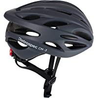 Retrospec by Westridge 3084 CM-3 Road Bike Helmet with LED Light Adjustable Dial, 24 vents