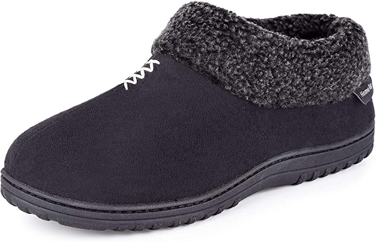MENS SLIPPERS NEW WINTER WARM FUR COSY LUXURY EASY CLOSE STRAP INDOOR SHOES SIZE