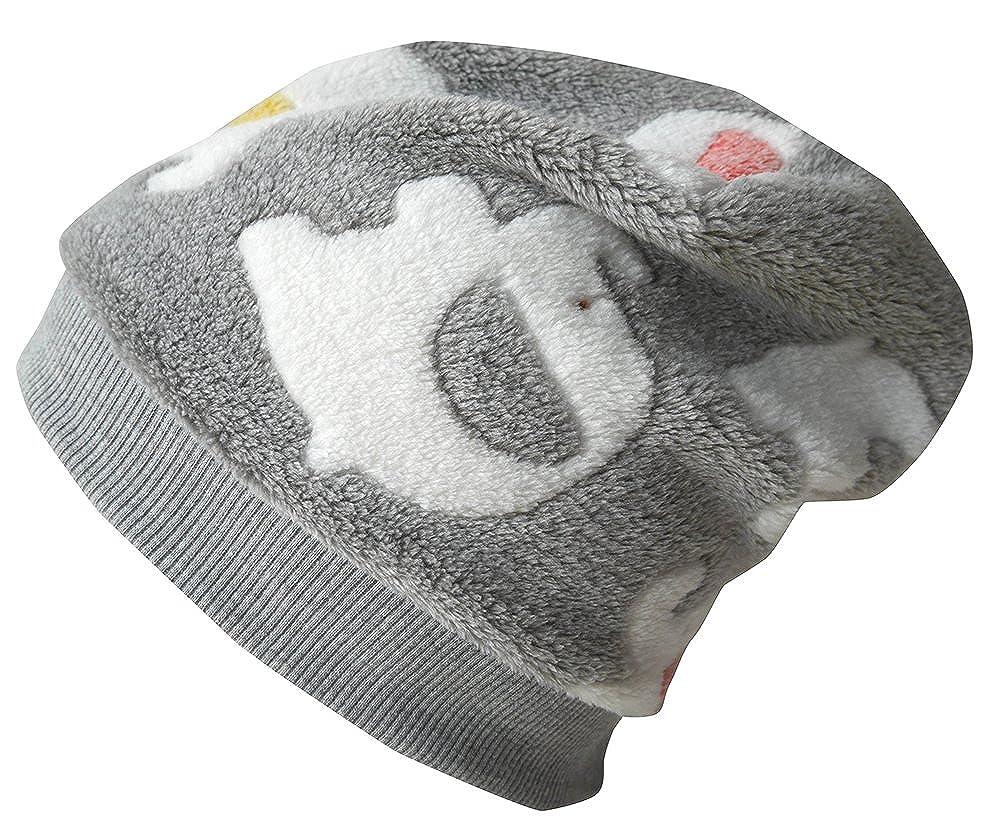 WOLLHUHN ÖKO Warme Beanie-Mütze / Babymütze Babyfant grau/rot/gelb/grün für Jungen und Mädchen (aus Öko-Stoffen, bio), 20160802