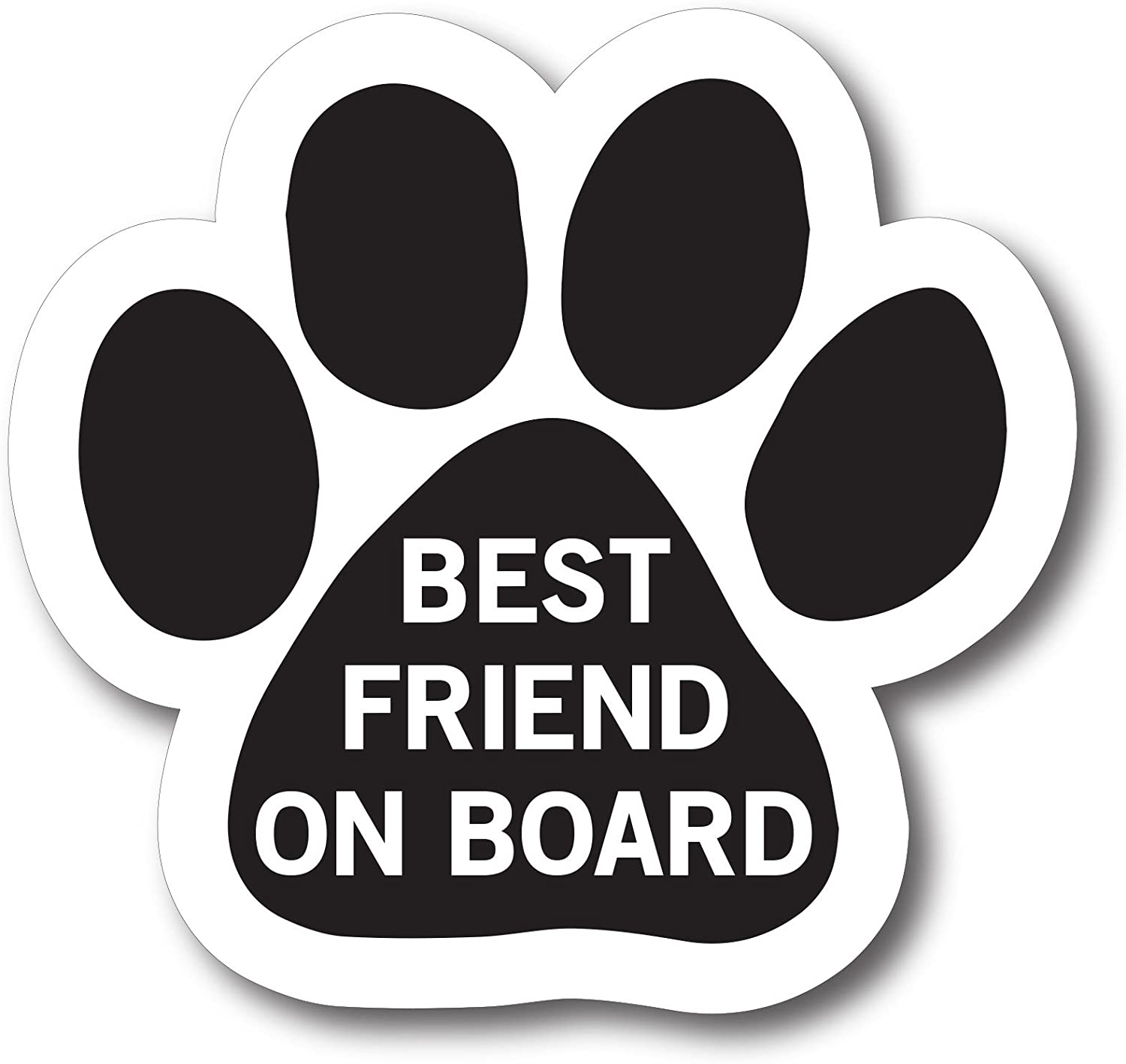 Magnet Me Up Best Friend on Board Pawprint Car Magnet Paw Print Auto Truck Decal Magnet