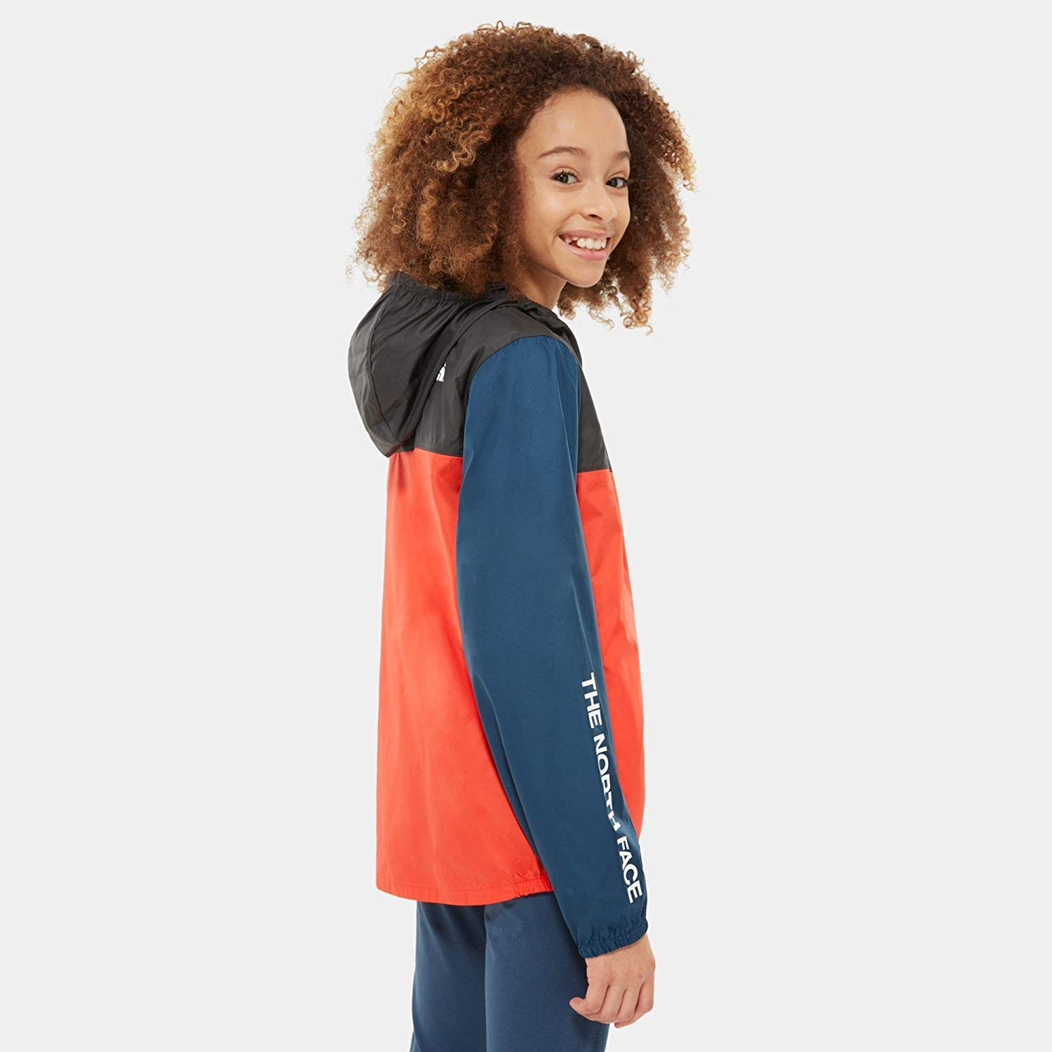 The North Face Y Reactor Wind Jacket Jacket Bambini NF0A3NKG YH4 Fiery Red Asphalt Grey