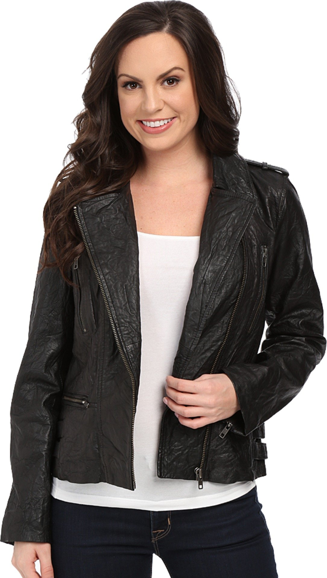 Scully Women's Lolita Fine Leather Jacket Black Outerwear XS
