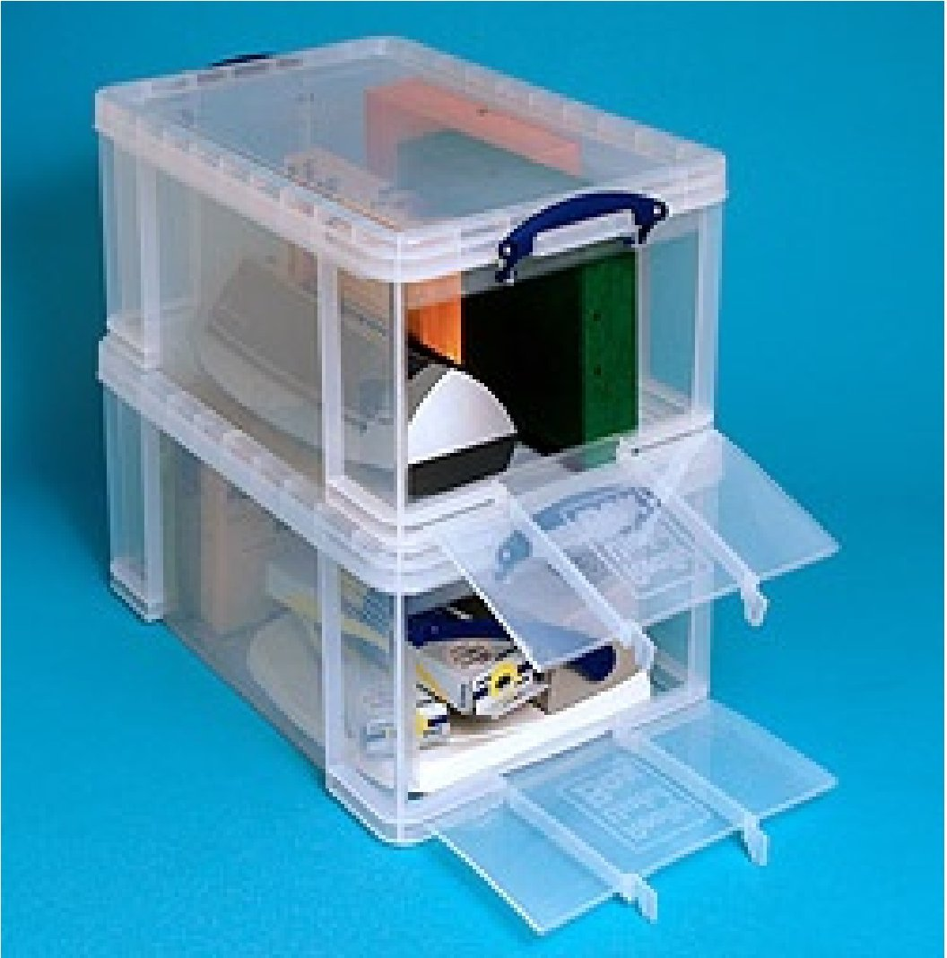 Front Opening Storage Containers Part - 17: 64 Litre LARGE Really Useful Clear Storage Box OPEN FRONT LITRE *MEGA DEAL  1 FOR 24*: Amazon.co.uk: Office Products