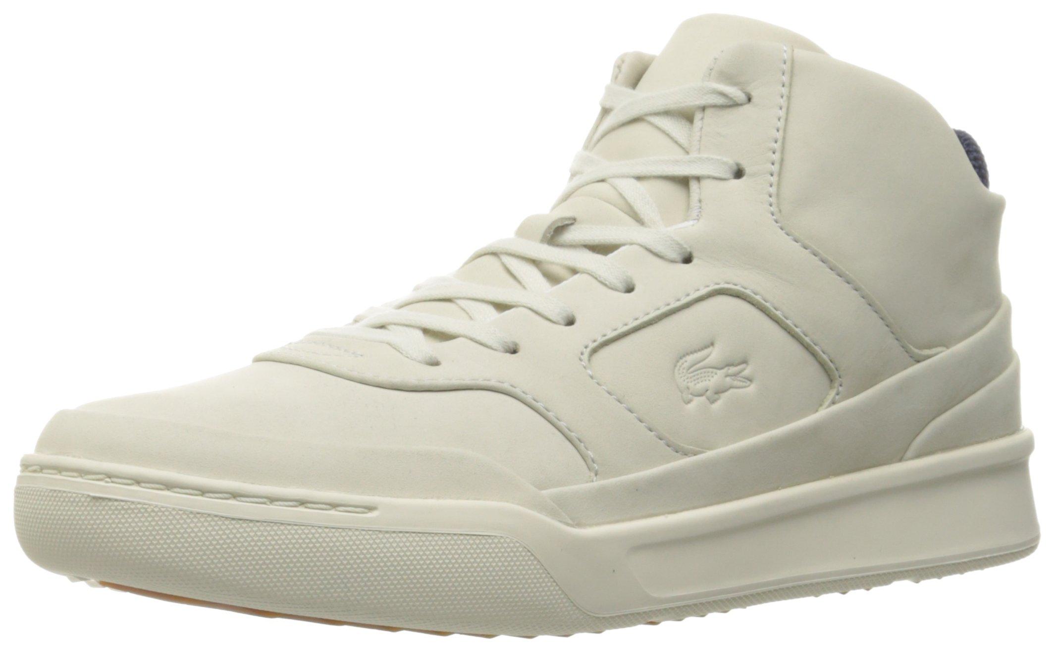 Lacoste Men's Explorateur Mid 316 1 Cam Fashion Sneaker, White, 10 M US