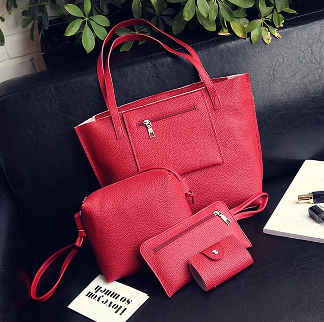 Amazon.com  HOT Sale! 4Pcs Women Leather Shoulder Bag+Crossbody Bag+Clutch  Wallet+Card Holder Bag ❤ ZYEE  Shoes 8d1505bf7ff40