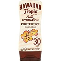 Hawaiian Tropic Silk Hydration Protective - Loción Solar Protectora con índice SPF 30 con cintas de seda hidratantes y…