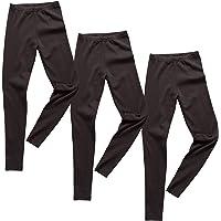 HERMKO 2720 Kit de 3 Leggings para Chicos y Chicas, 100% algodón orgánico