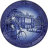 Royal Copenhagen [ ロイヤルコペンハーゲン ] クリスマスプレート2016 18cm ブルー 1016856 北欧 食器 新生活 [並行輸入品]