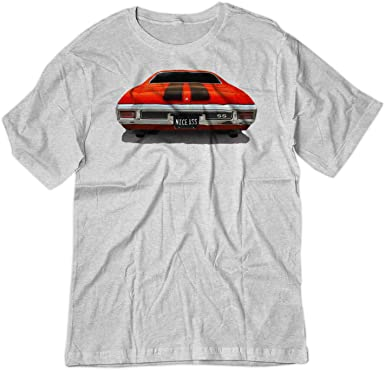 3f39e2833 BSW Men's Nice Ass 1970 Chevrolet Chevelle SS American Muscle Shirt XS Ash  Grey