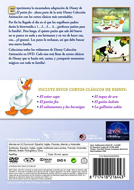 El patito feo [DVD]: Amazon.es: Personajes animados, Wilfred Jackson: Cine y Series TV