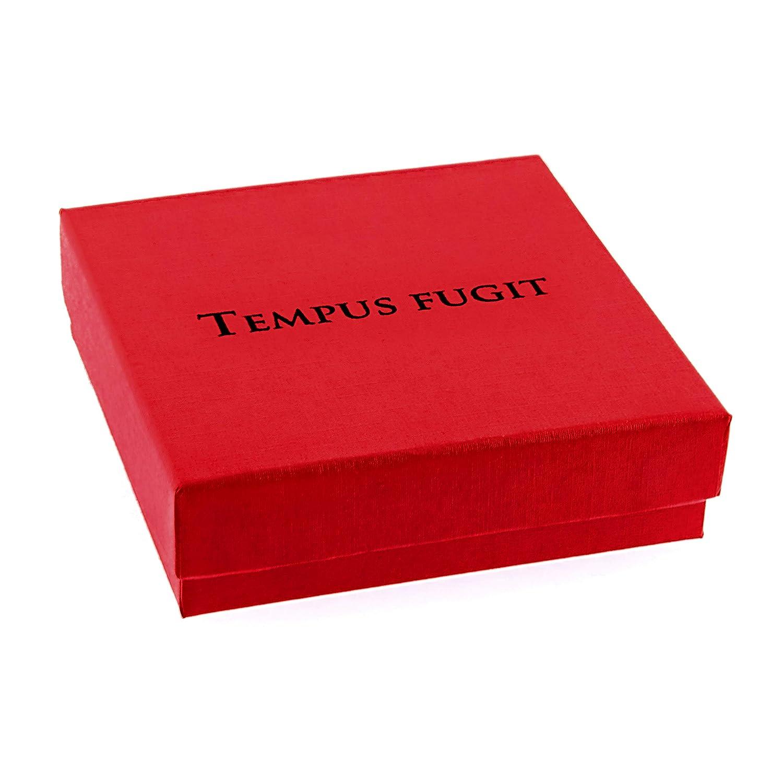 TEMPUS FUGIT Conjunto Pendientes y Collar Arbol de la Vida Acero inoxidable Antial/érgico Brillante con N/ácar de imitaci/ón