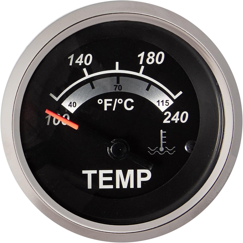 Sierra International 67020P Sterling Electric Water Temperature Gauge Black 2