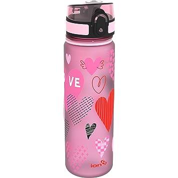 ion8 a prueba de fugas botella de agua diseño de corazones Slim, sin