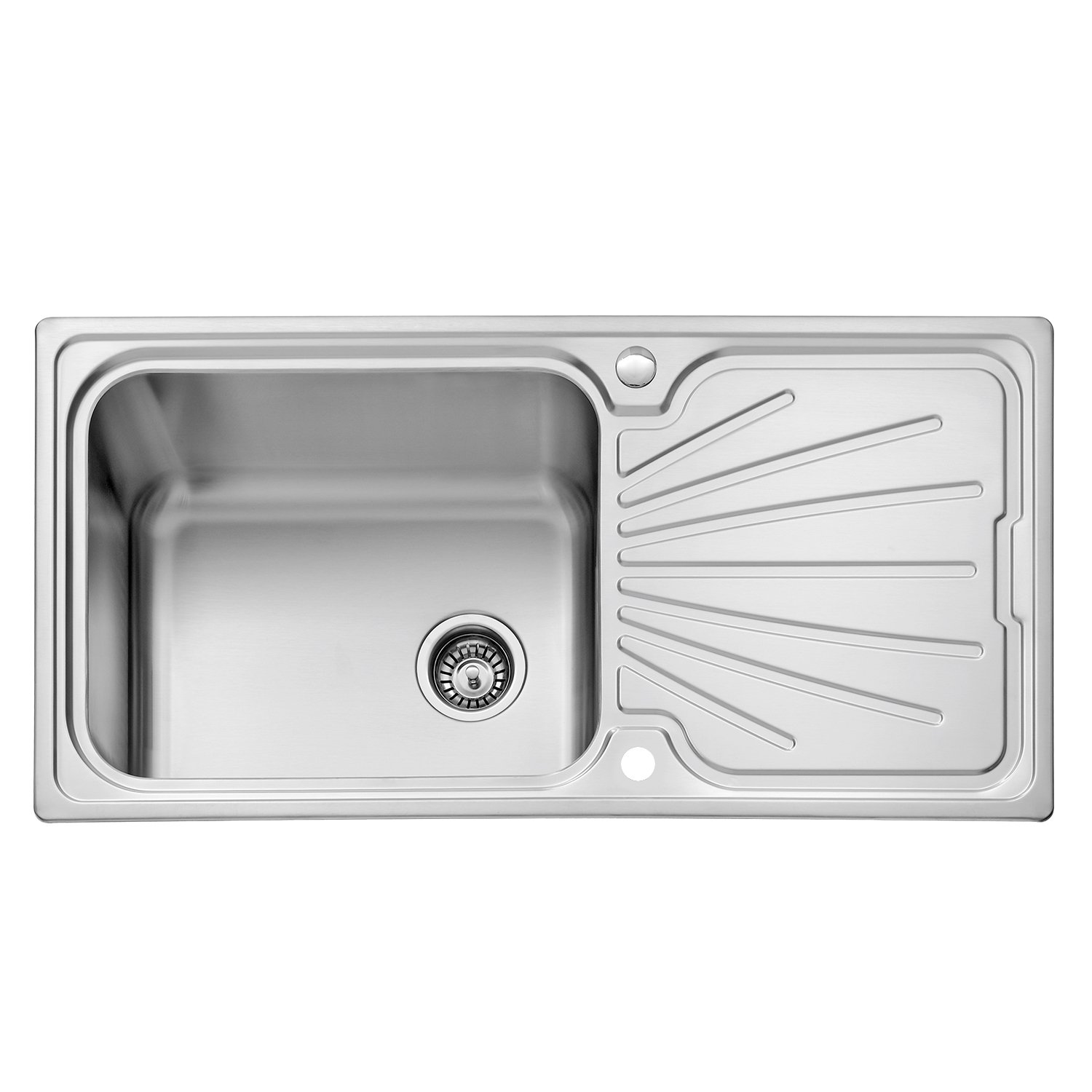 Jass ferry kitchen sink stainless steel large bowl welding style inset reversible drainer strainer waste pipes clips 1000 x 500 mm 10 years warranty