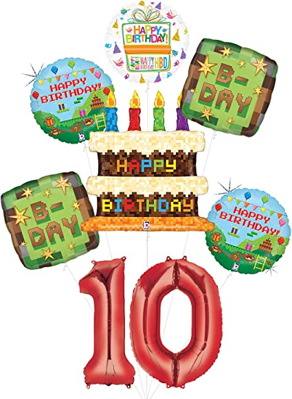 Video Game 12th Birthday Party Supplies Miner Pixelated TNT Minecraft-Inspire...