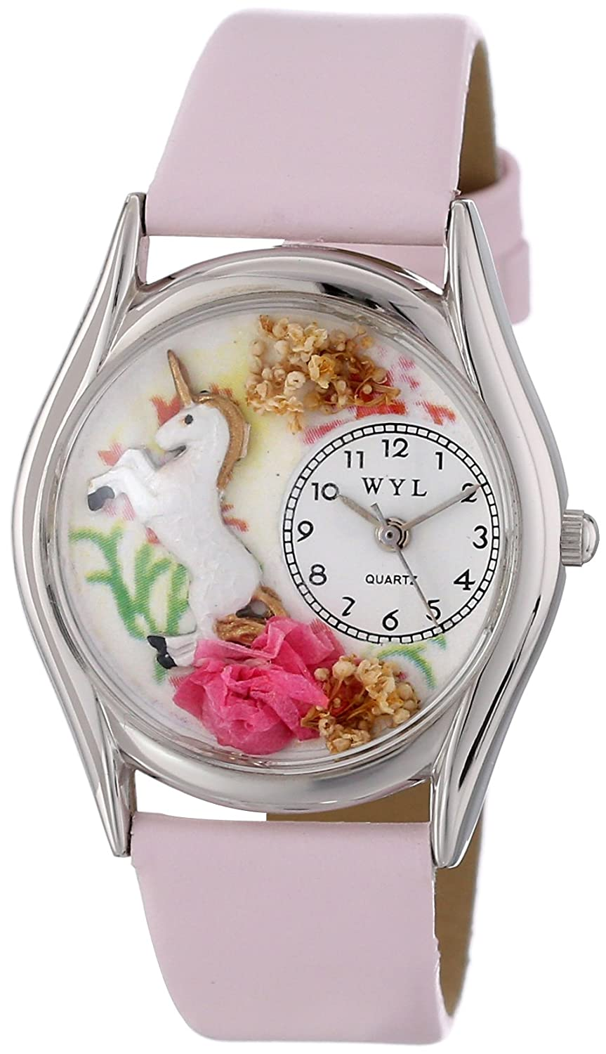 Whimsical Watches Women s S0420001 Unicorn Pink Leather Watch