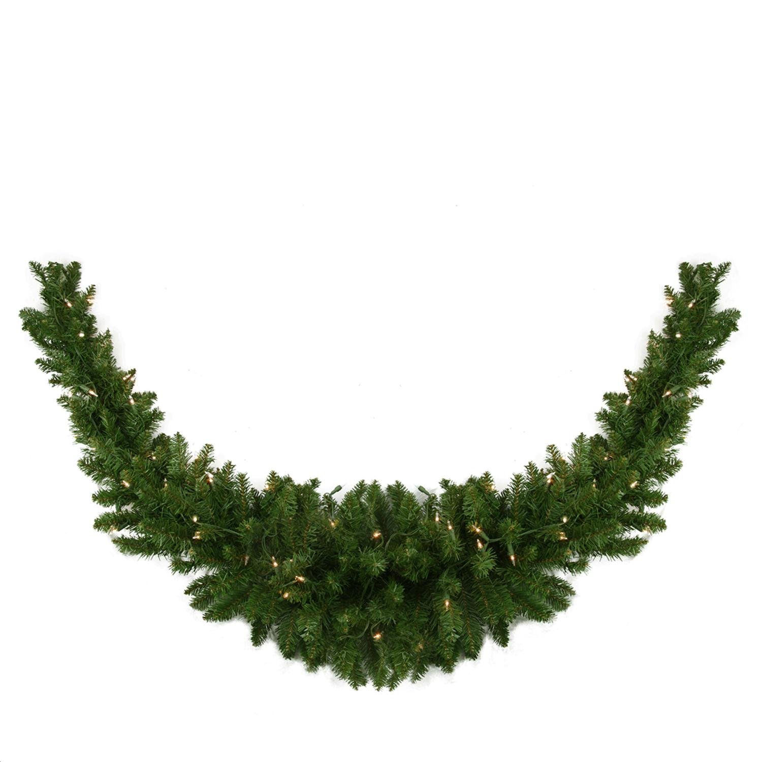 Northlight 60'' Pre-Lit Eastern Pine Artificial Christmas Swag - Clear Lights