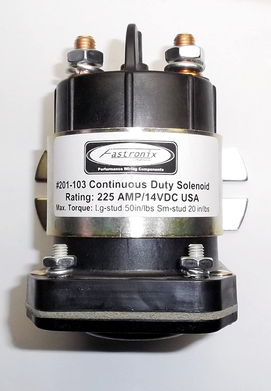 Fastronix Heavy Duty 4スタッド225 Amp / 14 VDC Contiuous Dutyソレノイド B07C93K4GP