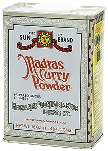 Sun Brand Madras Curry Powder, 1 Pound