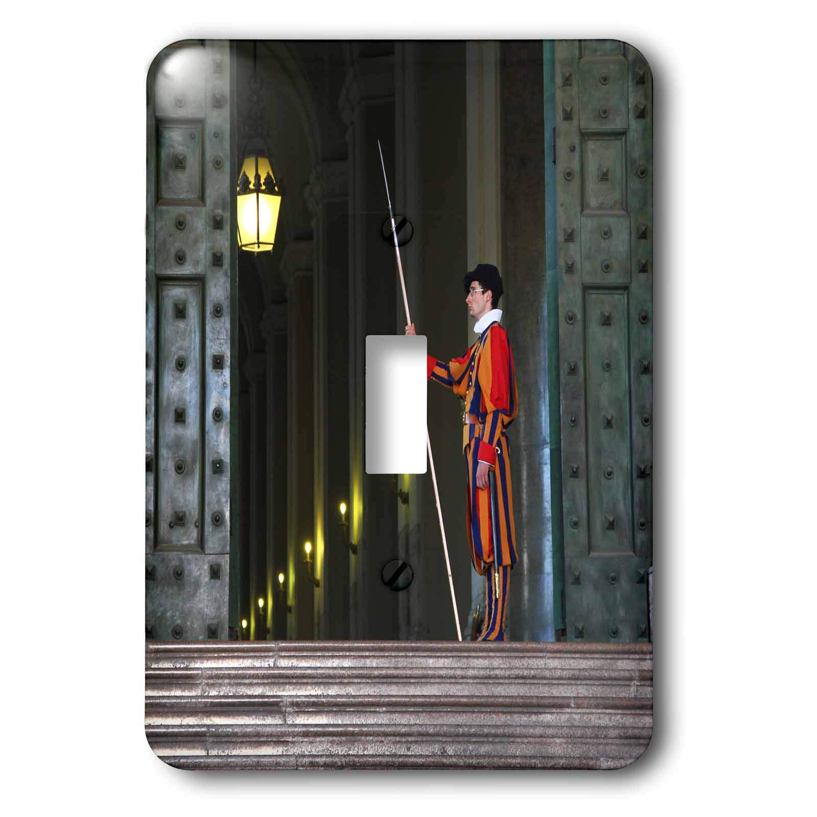 3dRose Elysium Photography - Portrait - Swiss guard on duty, Vatican City - Light Switch Covers - single toggle switch (lsp_289614_1) by 3dRose