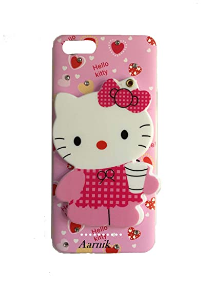 best sneakers 4ec69 7fa1b Aarnik Cute Makeup Mirror Soft Kitty Back Cover for Mi 6A - Multi Colour