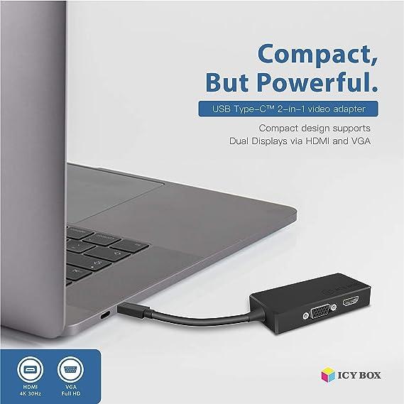 Welltop USB C auf VGA HDMI Adapter 5 in 1 USB 3.1 Typ C zu 1080P VGA 4K HDMI mit Audio//USB-C Lad