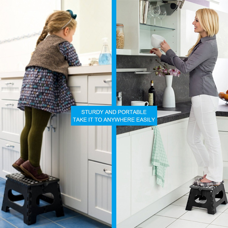 Amazon.com: Heim & Elda Folding Step Stool, Super Strong Plastic 9 ...