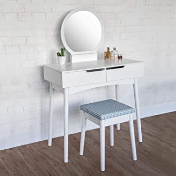 Amazon.com: Modern Bedroom Vanity Table Set Dressing Makeup ...