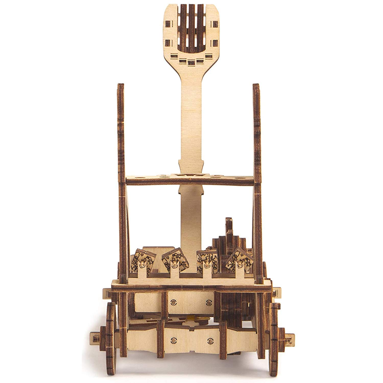 3D Wooden Puzzle Desk Toys Assembly Toys Mini Catapult Kit for Kids Build Your Own Wooden Mini Catapult ECO Wooden Toys STEM Toys for Boys and Girls Best DIY Toy Egyptian Catapult Model Kit