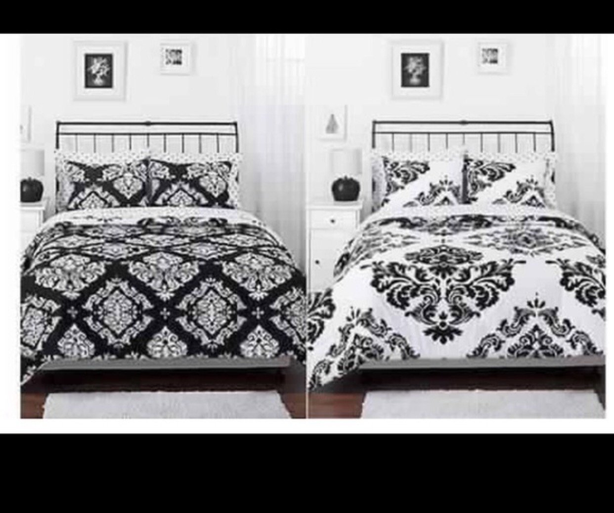 comforter set comforters buy bath becca from black beyond white bed damask and queen