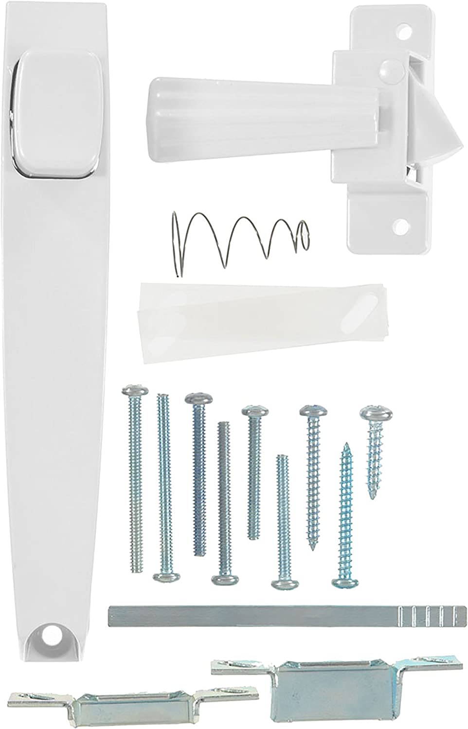 Wright Products International V333WH Screen and Storm Door Pushbutton Latch, White
