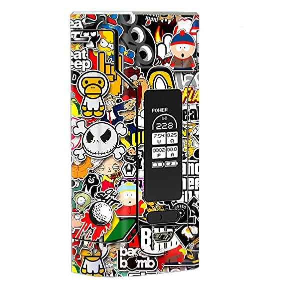 Skin decal vinyl wrap for wismec predator 228 vape mod stickers skins cover sticker slap