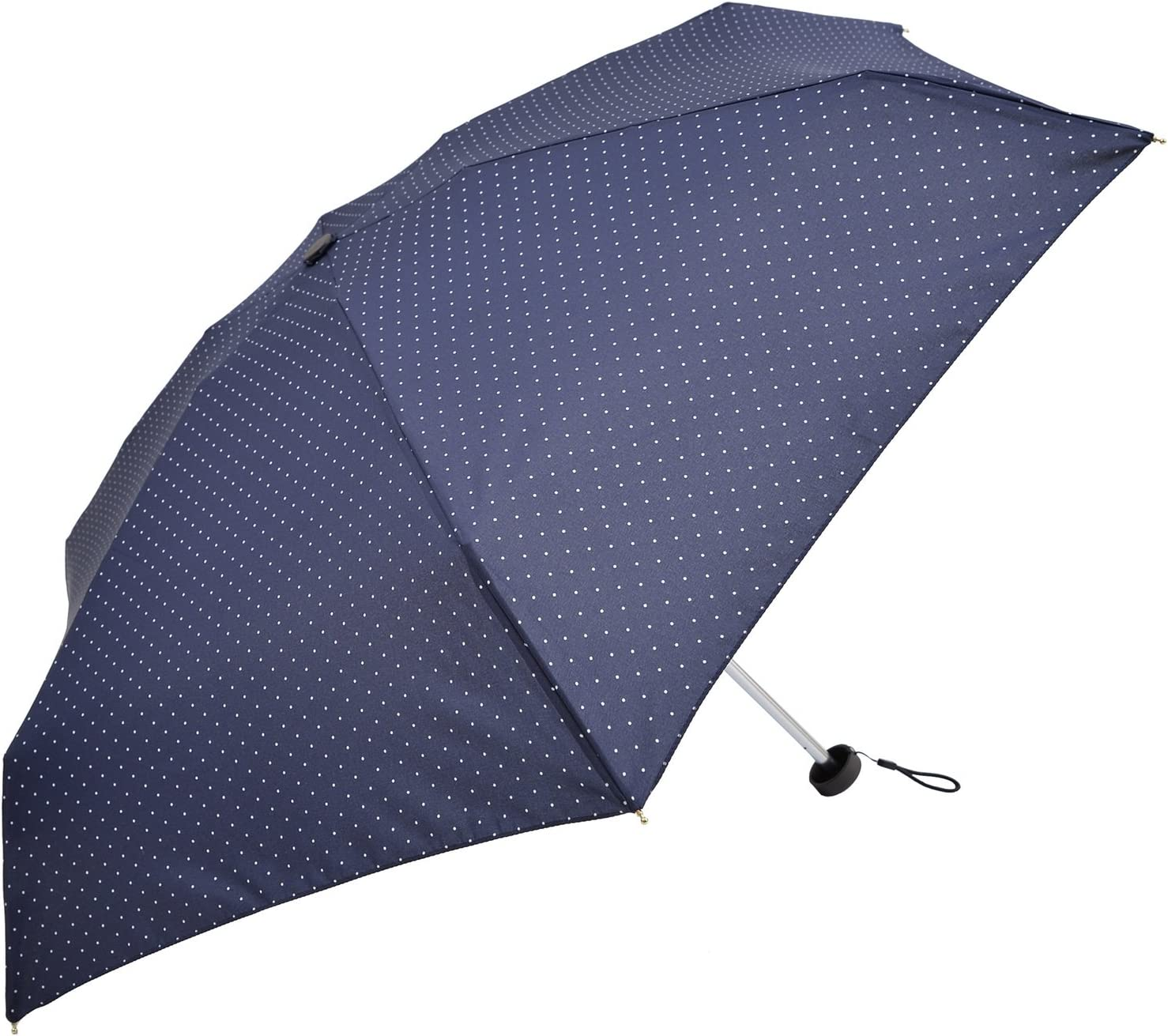 Nifty Colors folding umbrella dot five-stage Navy six bone 50cm